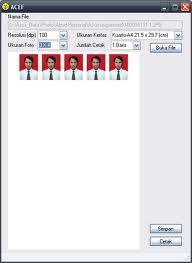 Download ACEF software cetak pas foto