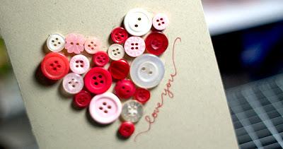 Cartão para o dia dos namorados personalizado com botões