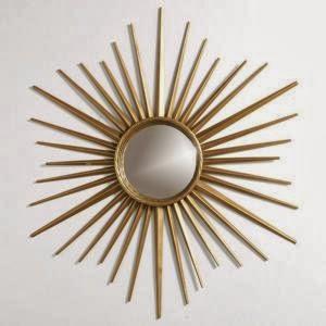 Simple Details diy gold sunburst flush mount light