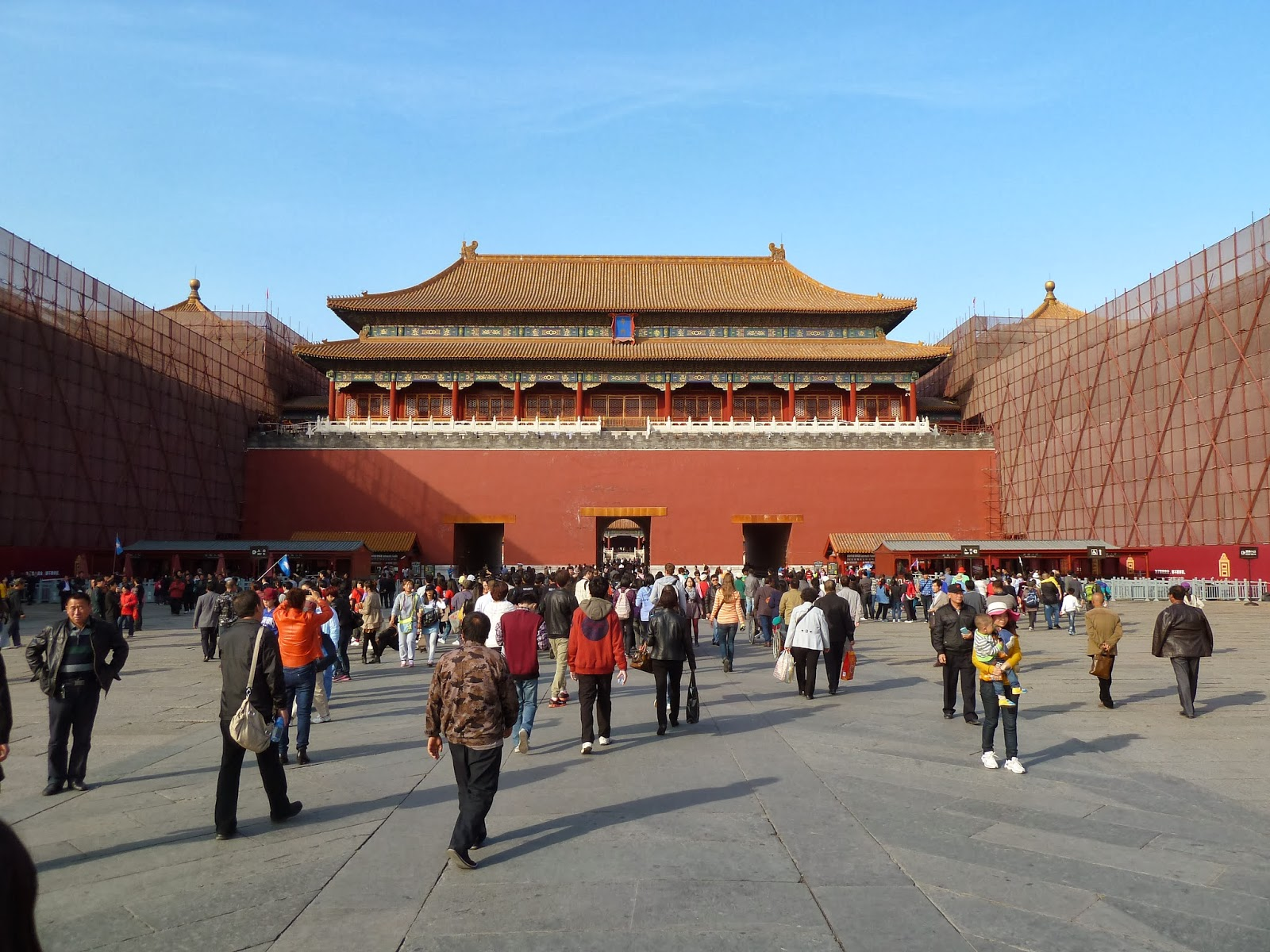 Tiananmen Square and Forbidden City in Beijing