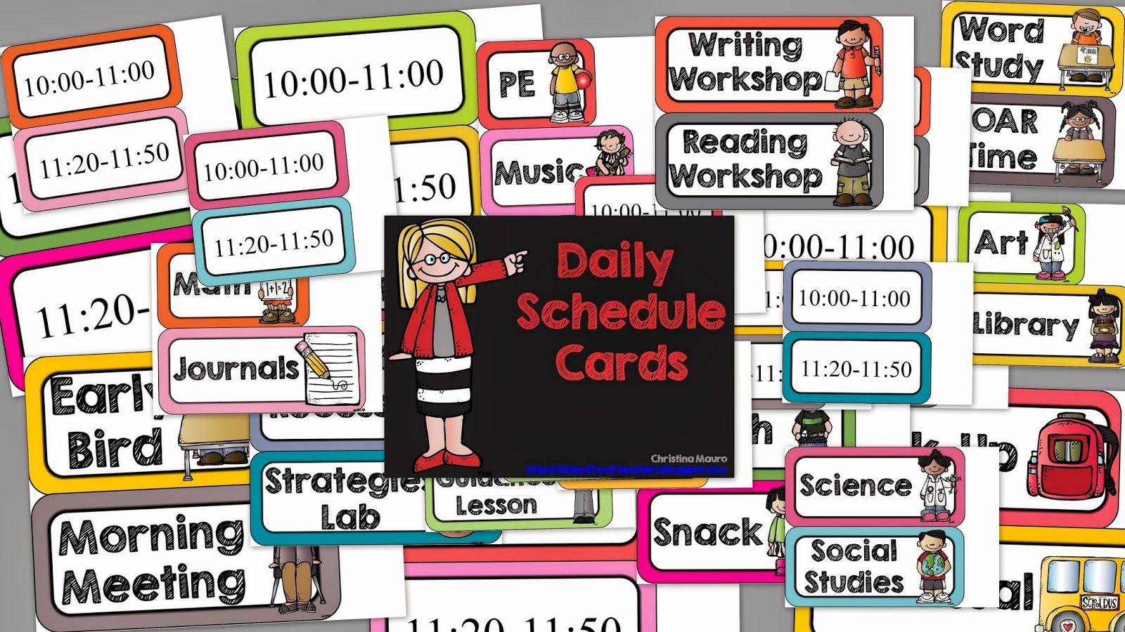 http://www.teacherspayteachers.com/Product/Daily-Schedule-Cards-Editable-Times-727318