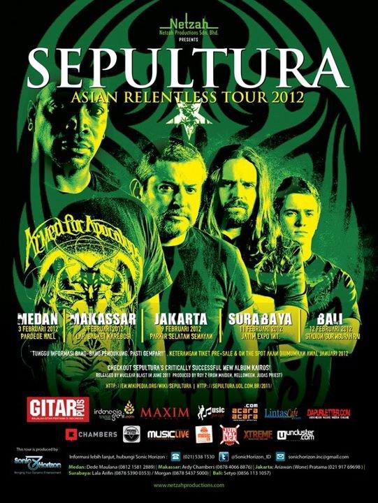 SEPULTURA Siap Gempur INDONESIA
