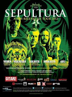 Jadwal dan Harga Tiket Konser Sepultura di Indonesia 2012