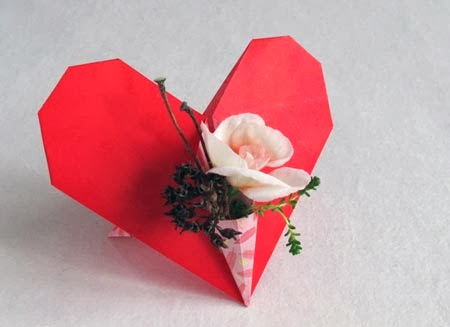Popular Diy Crafts Blog How To Make An Origami Standing Heart