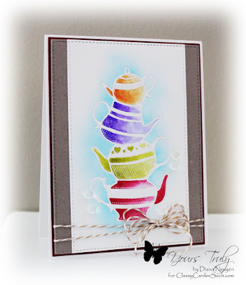 Diana Nguyen, poppystamps, teapot stack, watercolor