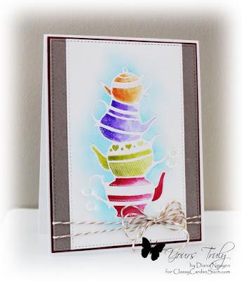 Diana Nguyen, poppystamps, teapot stack, watercolor