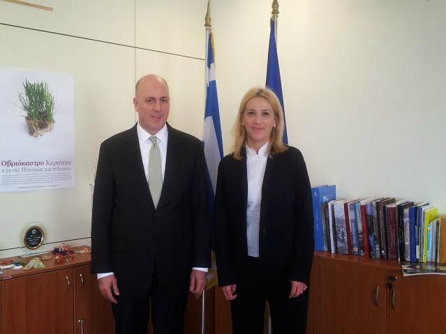 Συνάντηση Περιφερειάρχη Αττικής με πρέσβη Τουρκίας
