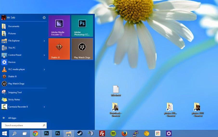 windows 10 interfata