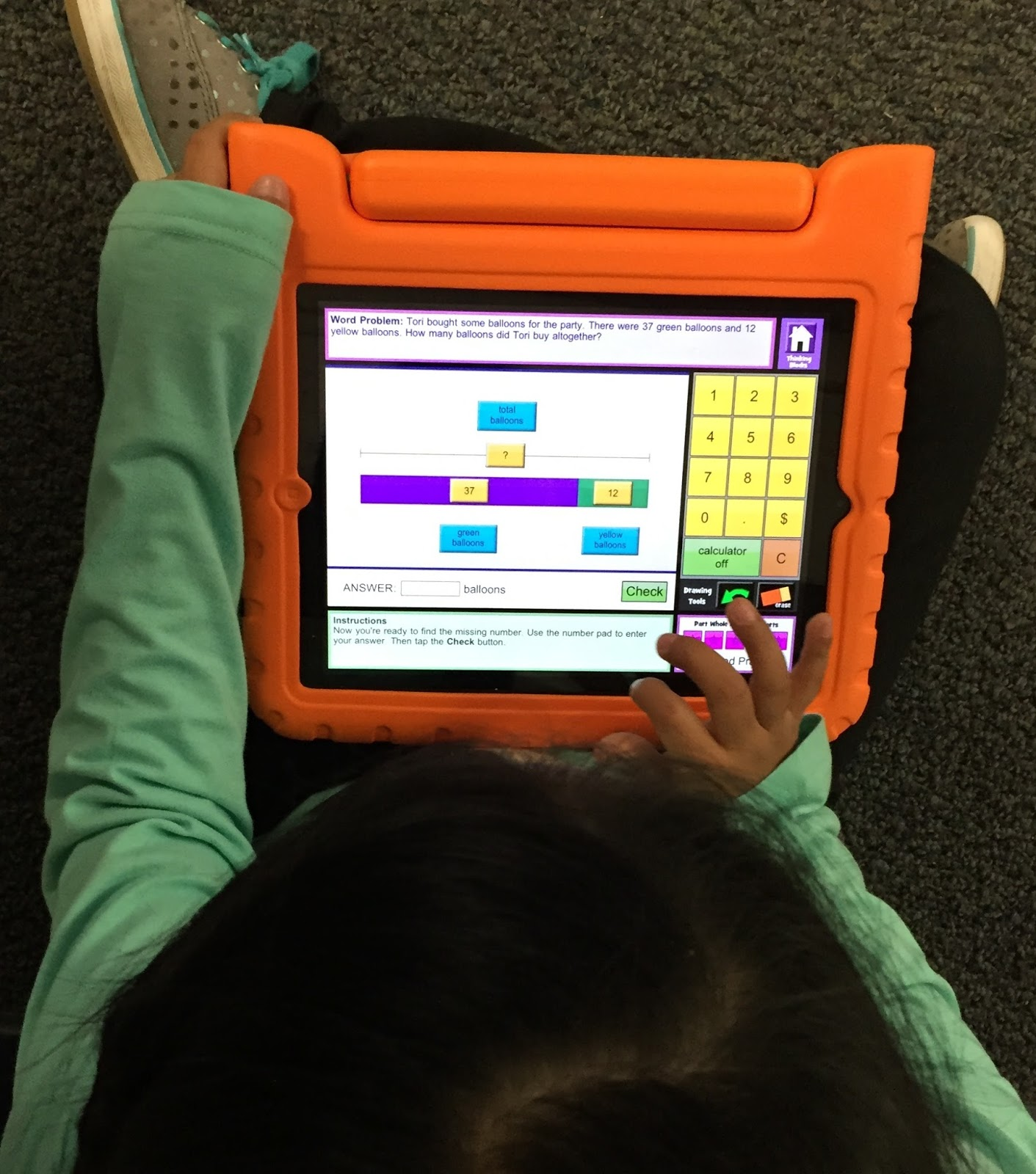 iPad math game: tape diagrams - Light Bulbs and Laughter Blog