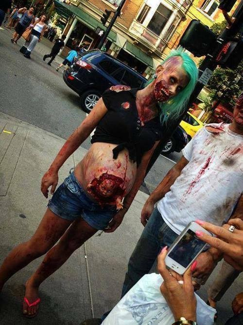 Pregnant Zombie With Baby Costume
