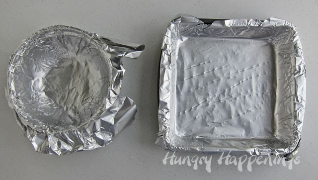 Line pans with non-stick tin foil