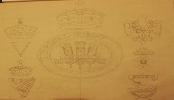 Drawing of war memorial for Armagh Cathedral