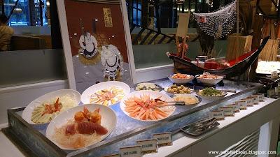 La Fiesta at MOA sashimi and sushi