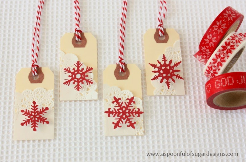 Snowflake Gift Tags - A Spoonful of Sugar