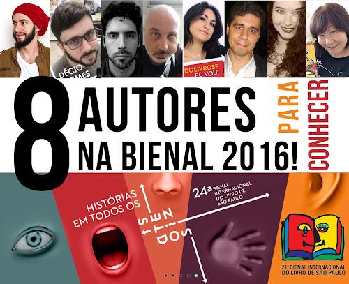 8 autores para conferir na bienal do livro 2016