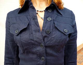 foto detalle cuello y parte superior vestido Isabel de Pedro