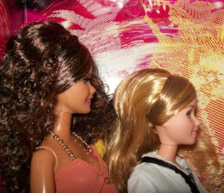 Profile of Mattel Carnival Barbie (left) and High School Musical Tiara Gold (right)