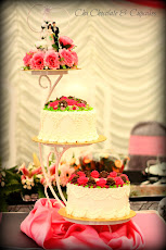 2 TIER WEDDING CAKE + DOLL