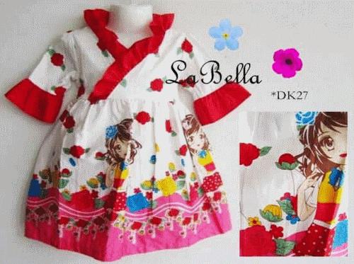 Baju Muslim Anak Perempuan MFDK27  Untuk anakanak