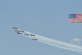 Hadi Shriners Air Show flag display