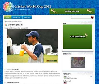 ICC Worldcup 2011 Blogger Template