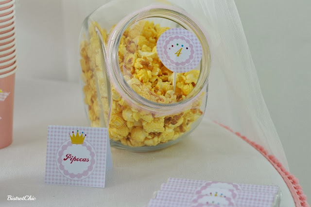 Princess Party popcorns by BistrotChic