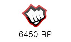 League of Legends 6450 RP