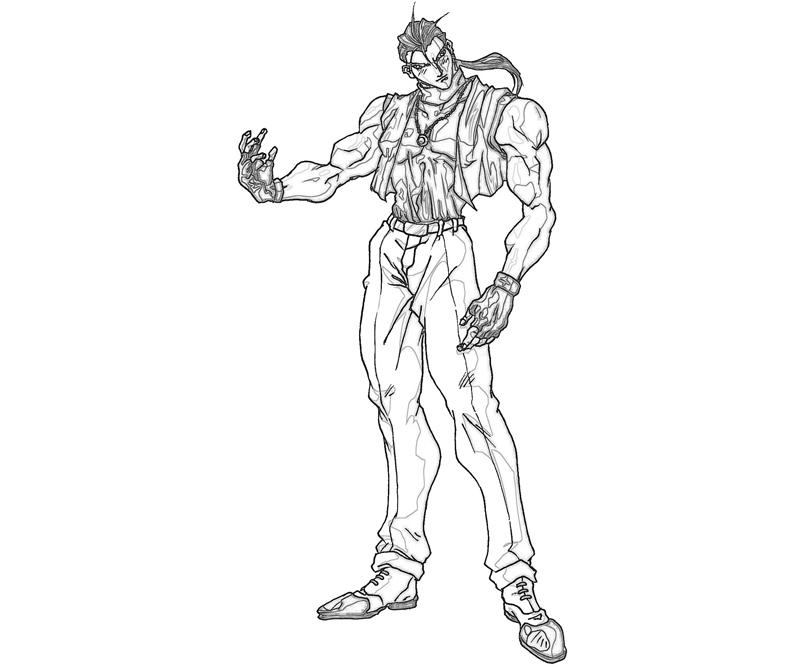 printable-king-of-fighters-robert-garcia-style_coloring-pages