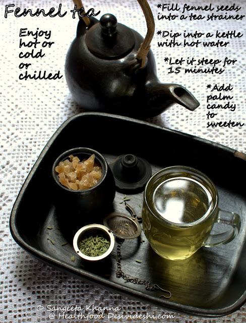 recipe of fennel tea
