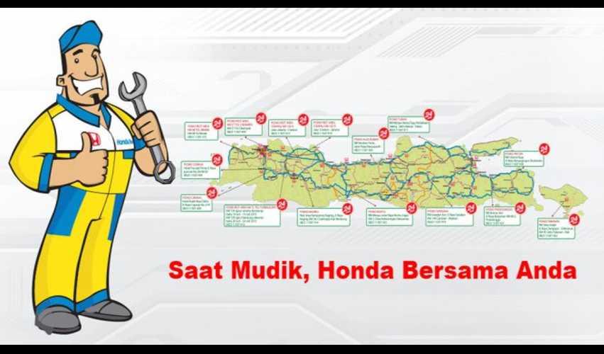 Catat, Bengkel Resmi Honda Siaga di 70 Titik Mudik 2015