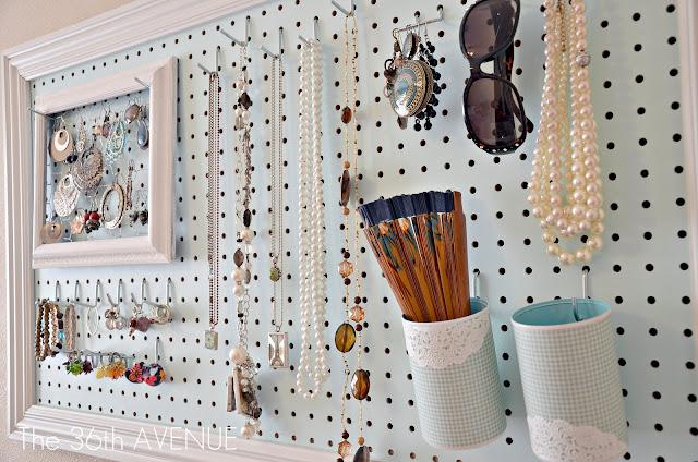 DIY Pegboard Jewelry Storage Ideas