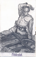 Pencil drawing of soldier