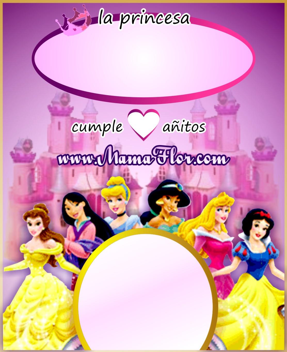 Tarjetas de cumpleaños princesas bebé - Imagui