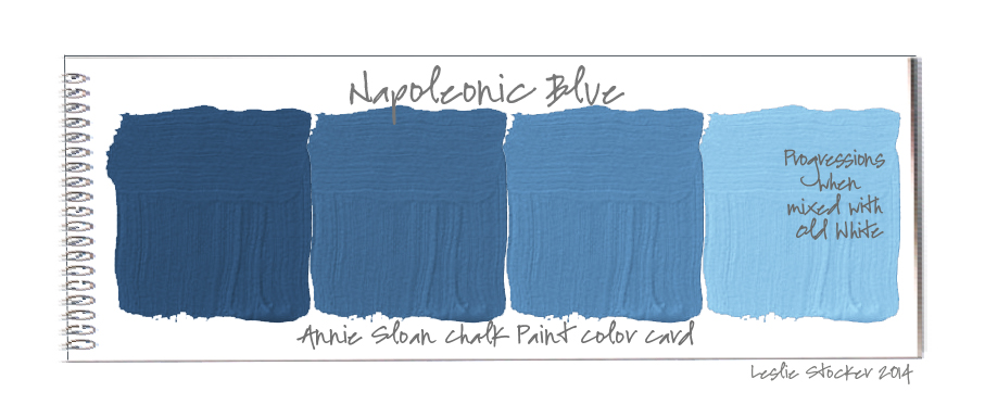 Blue Paint Swatches colorways: color swatches