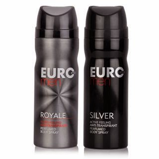 Euro Style Set of 2 Mens Deodorant(Royale and Silver) for 72% off