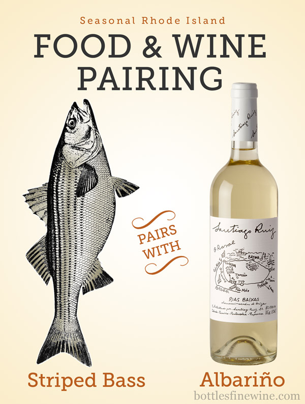 food and wine pairing idea striped bass albarino