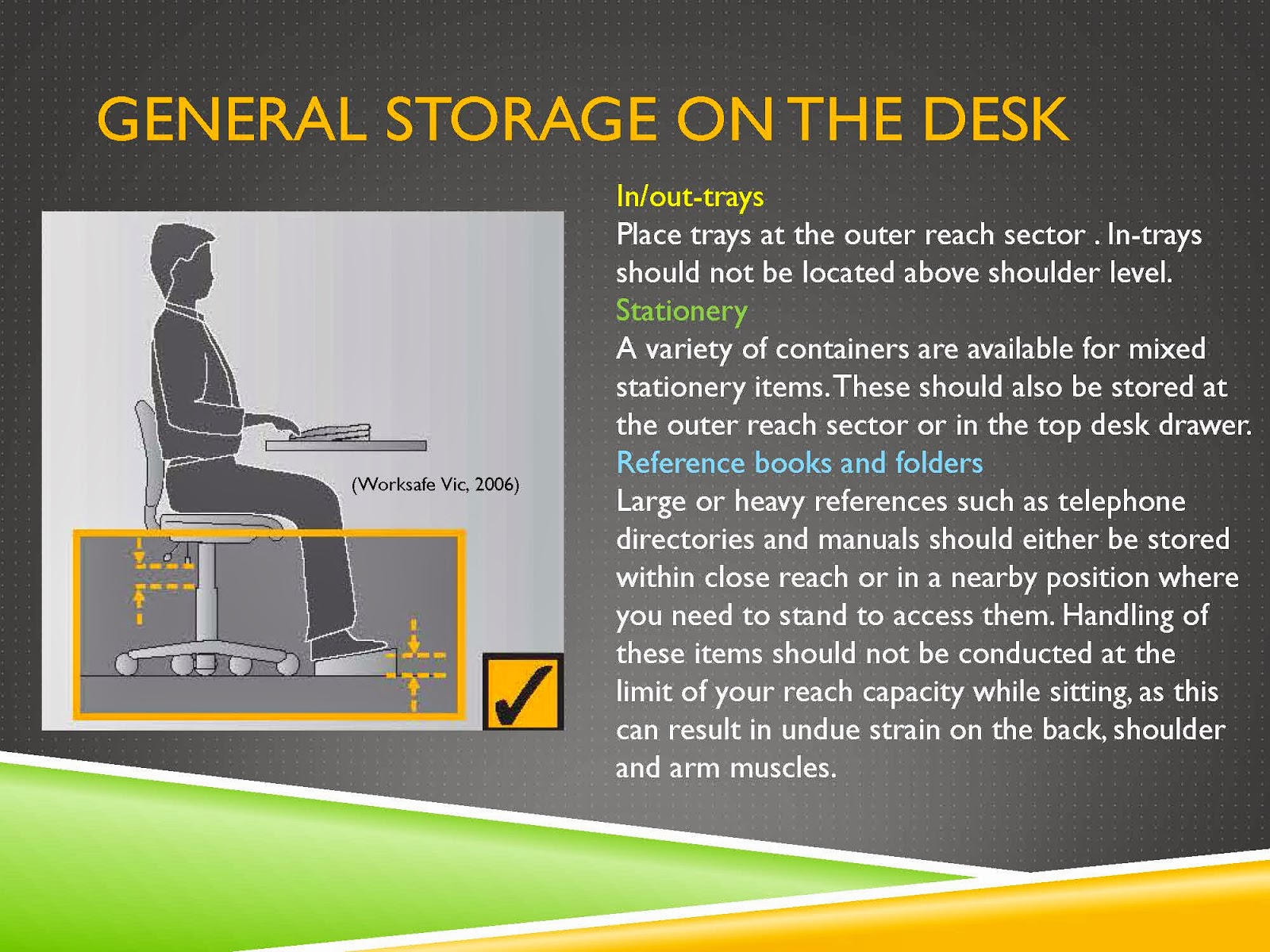 GENERAL STORAGE ON THE DESK