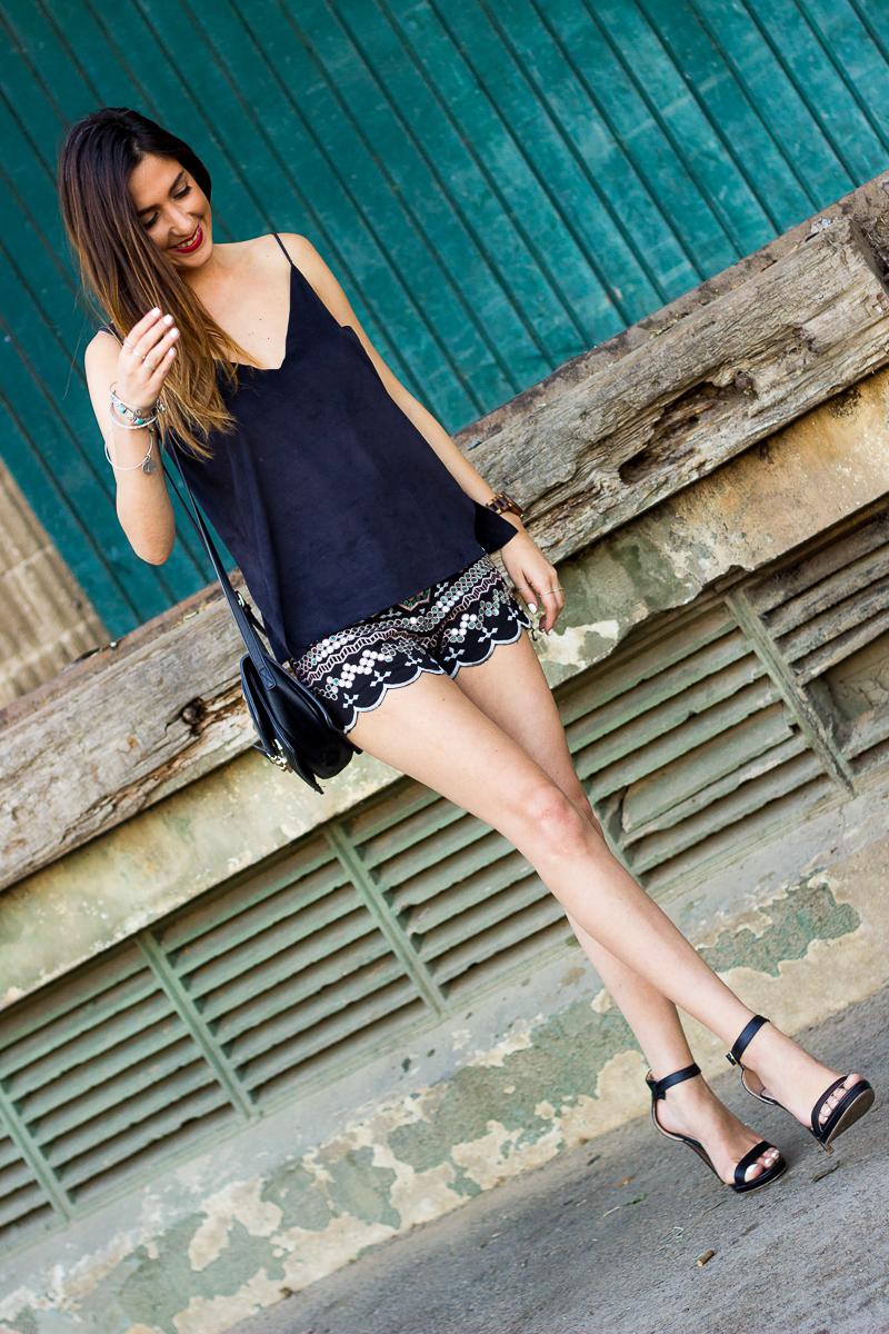 pailletes shorts
