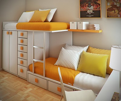 Simple and Minimalist Teen Bedroom Design by Sergi Mengot 7