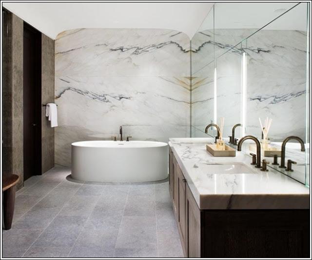 Concevoir votre salle de bains en marbre d cor de maison - Concevoir salle de bain 3d ...