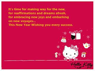 Gambar Selamat Tahun Baru Hello Kitty Ucapan Happy New Year