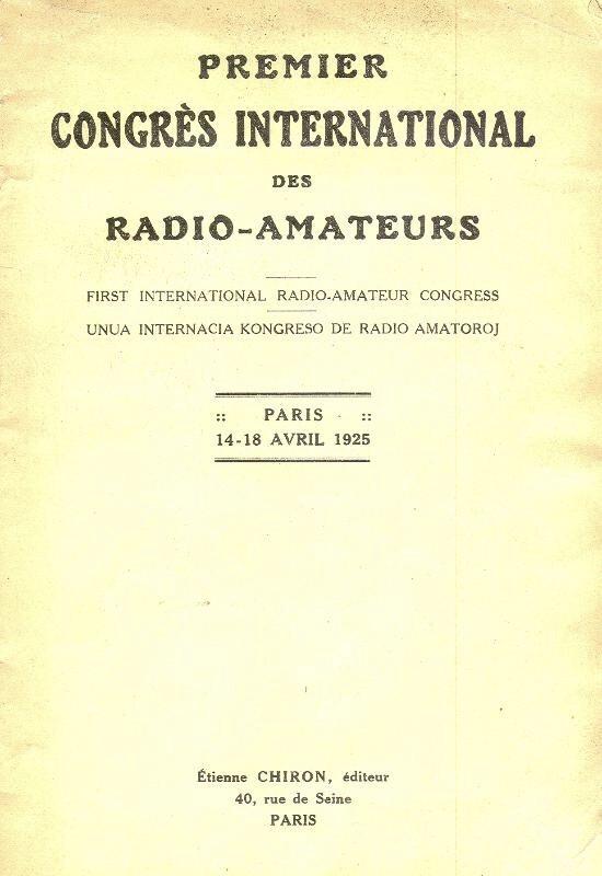 Primer Congreso Internacional de Radioaficionados