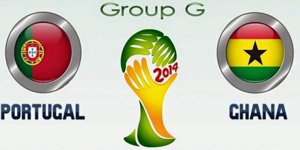 Portugal (eliminada) 2 - 1 (eliminada) Ghana. Grupo G