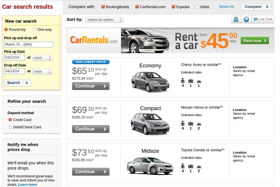 Cheap Car Rentals In Pa