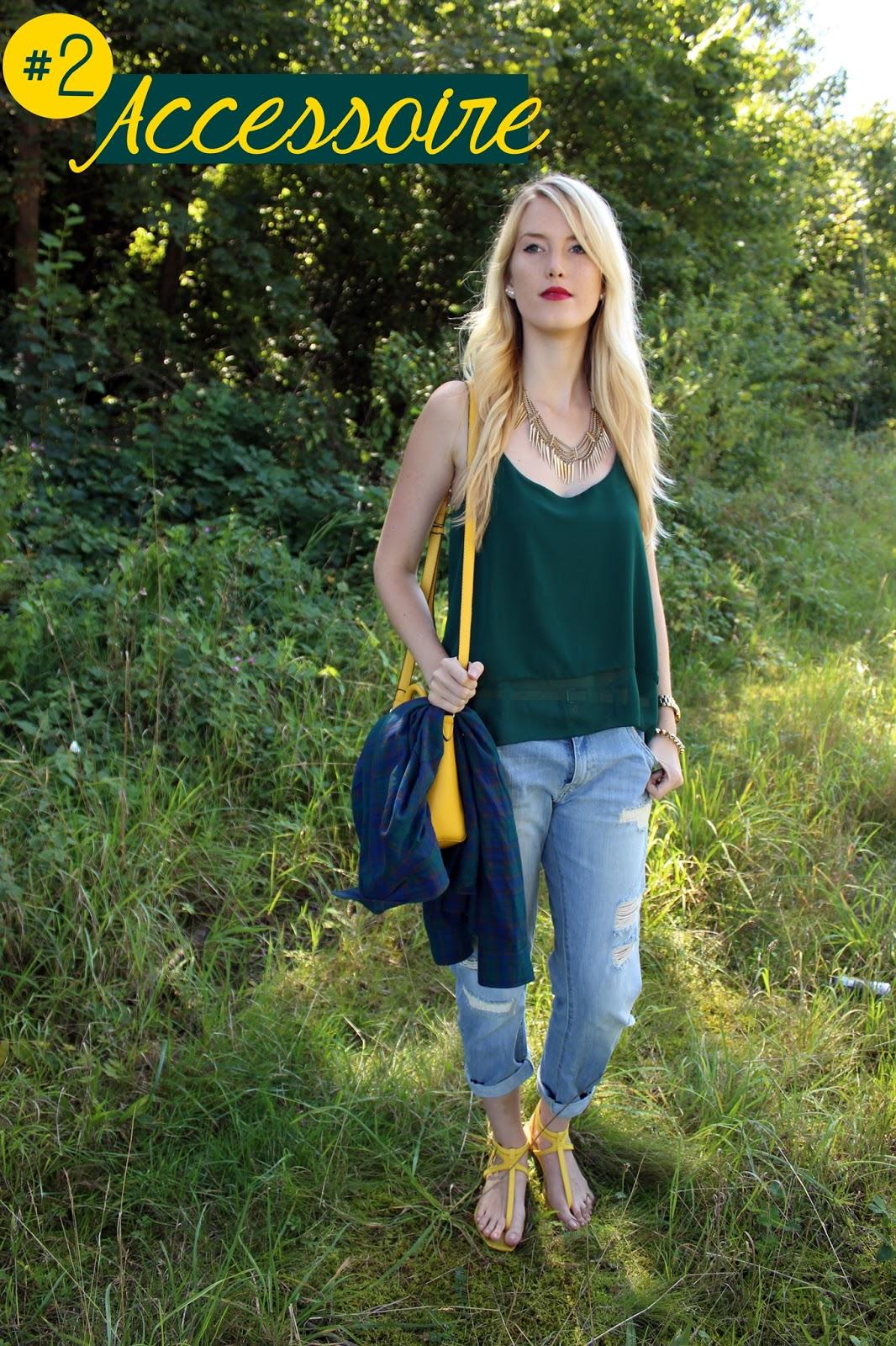 Tartan Shirt Karohemd kariert 5ways TheBlondeLion Outfit Boyfriend Jeans
