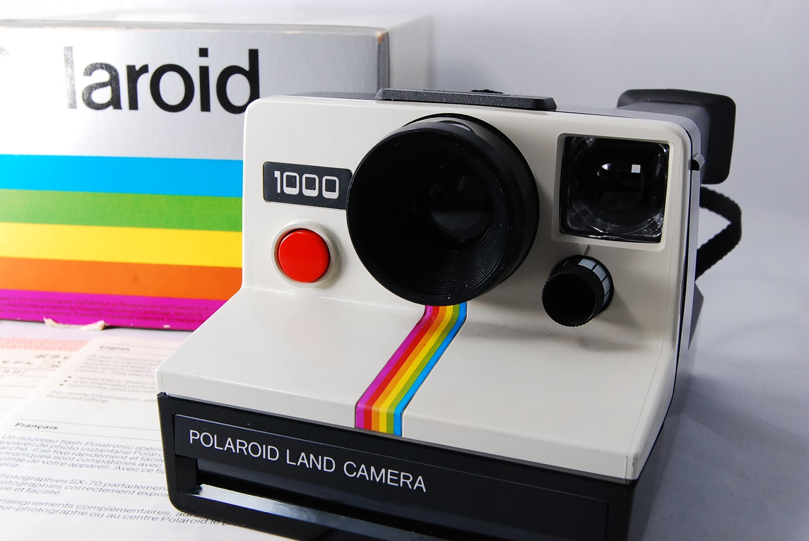 cool japan select shop polaroid land camera supercolor 1000 red w box from japan. Black Bedroom Furniture Sets. Home Design Ideas