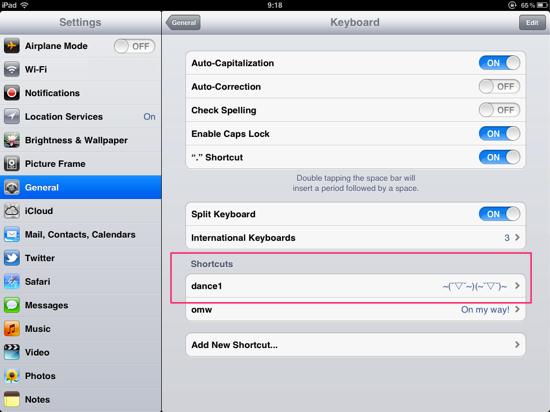 Shortcut BlackBerry Autotext Emoticon iPhone