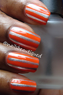 Orange and Silver Stripes