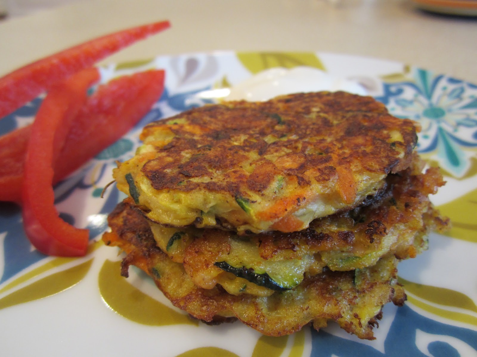 The Full Plate Blog: zucchini-carrot fritters