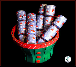"Christmas Crackers with chocolate - ""Santa Hats"" design"